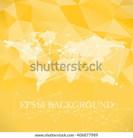 Vector polygonal world map background website stock vector 406877989 vector polygonal world map background website background template book cover template bright yellow gumiabroncs Gallery