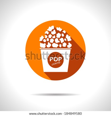 Vector popcorn icon. Eps10 - stock vector