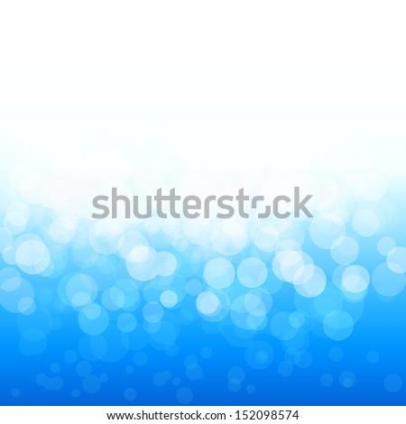 vector popular bokeh blue festive lights and stars - stock vector