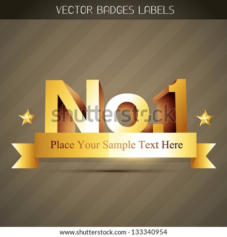vector popular no. 1 label style design - stock vector