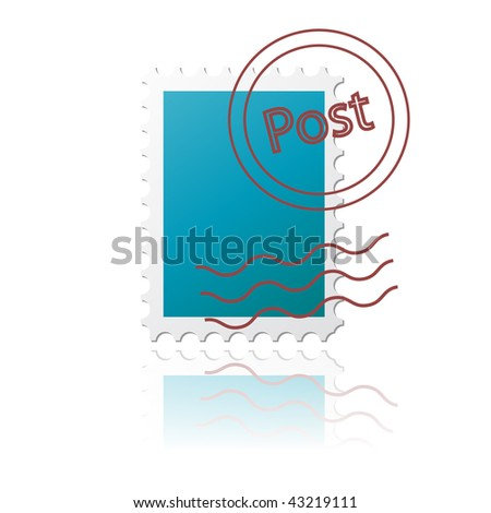 vector Postal Stamp - stock vector