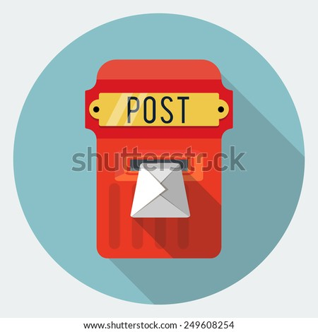 Vector postbox icon - stock vector