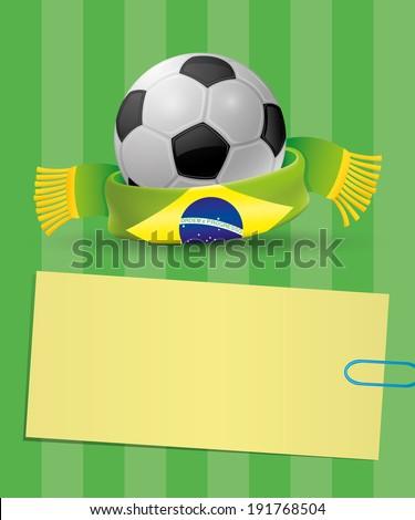 Vector poster. Football. - stock vector