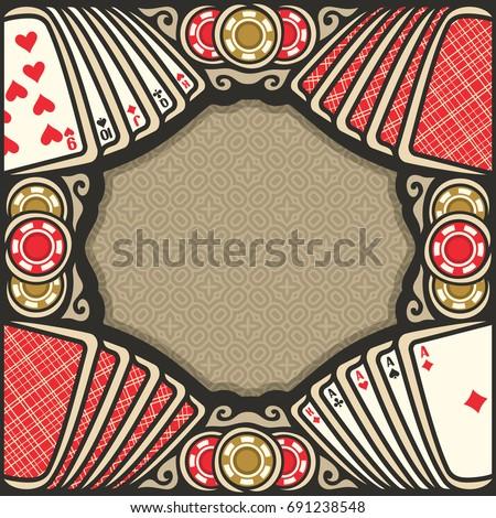 Gambling vector background