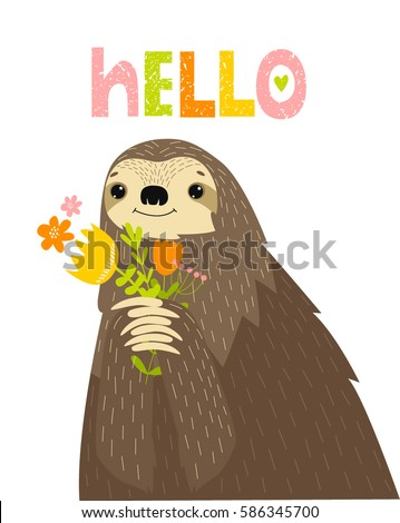 Sloth Cartoon Stock Images Royalty Free Images Amp Vectors