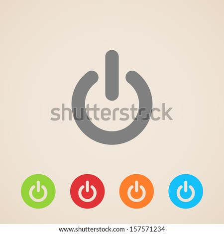 vector power icons - stock vector
