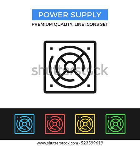 Vector Power Supply Icon Premium Quality Stock Vector 523599619 ...