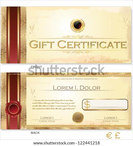 Vector Premium Certificate Template - stock vector