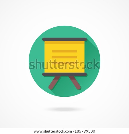 Vector Presentation Board Icon - stock vector