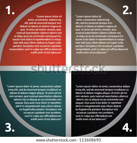 Vector presentation with circle and arrows - stock vector