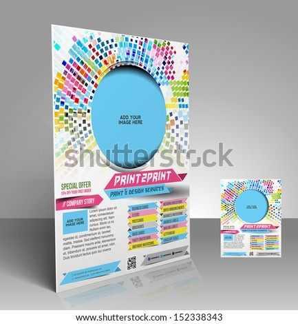 vector press color management flyer magazine cover poster template