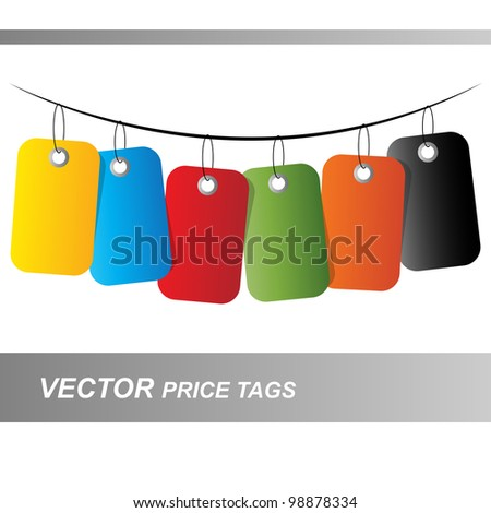 vector price tags - stock vector