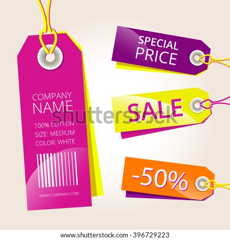 Vector price tags set
