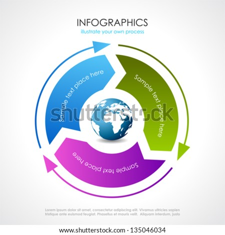 Vector process diagram - stock vector