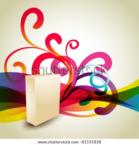 vector product box on artistic background