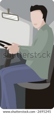 Vector profession series. Truck driver. Check my portfolio for much more of this series as well as thousands of similar and other great vector items.