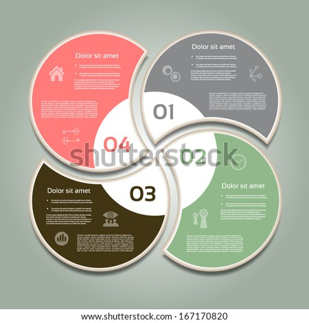 Vector Progress Background / Product Choice or Version. eps 10 - stock ...