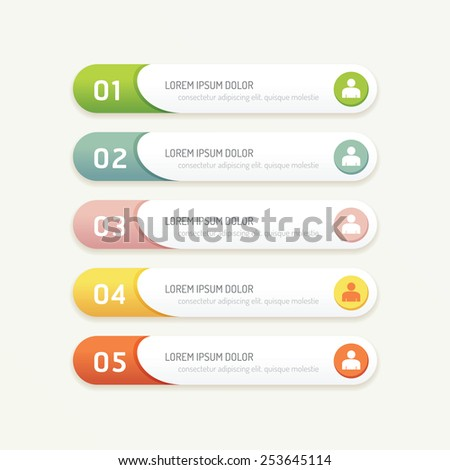 vector progress banners with colorful tags./ can be used for infographics / number banner / number options /concept graphic or web design layout. - stock vector