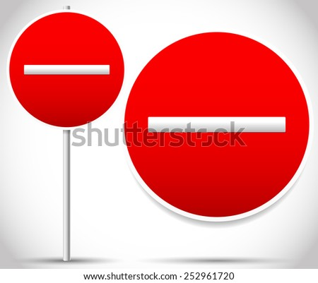 Vector Prohibition, Restrictive Signs. - stock vector