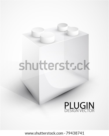 Vector promotional background. Toy block. Clean style - stock vector