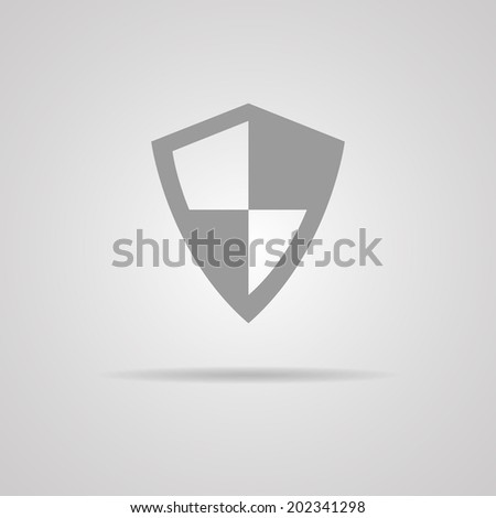 Vector protection icon on gray background. illustration. EPS10 - stock vector