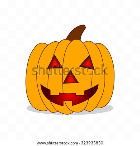 vector pumpkin with an evil expression on his face