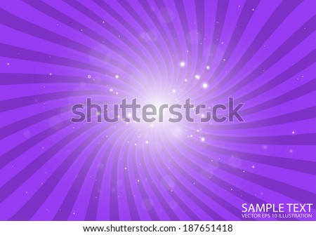 Vector purple space flare background illustration - Vector background star blast illustration - stock vector