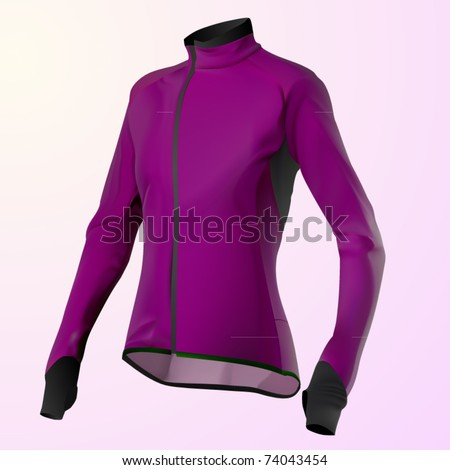 vector purple women's jacket