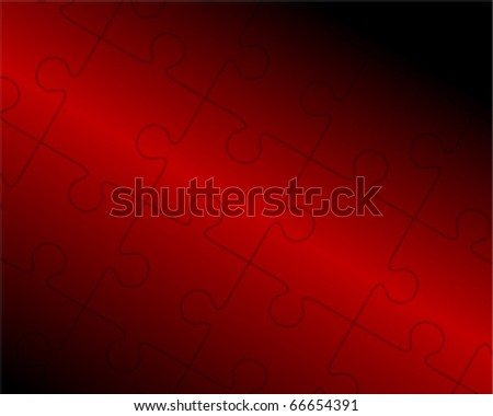 Vector puzzle background - stock vector