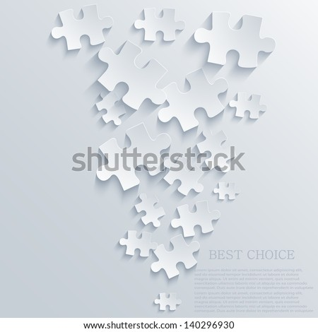 Vector puzzle background. Eps10 - stock vector