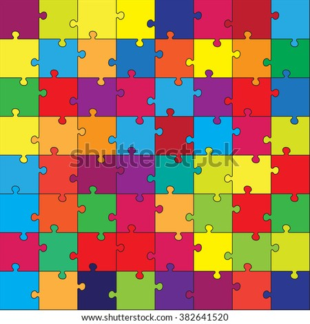 Vector puzzle game for children. Puzzle texture. Jigsaw game for kid. Visual, rebus, puzzle, educational game for preschool child