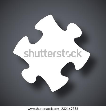 Vector puzzle icon - stock vector