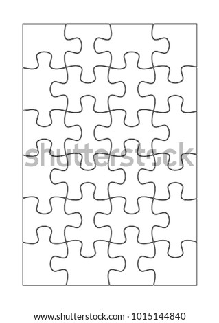 Vector puzzle on white background