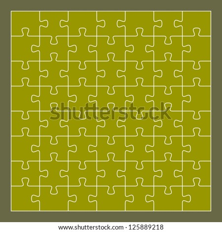 Vector puzzle, 56 pieces. Illustration for design - stock vector