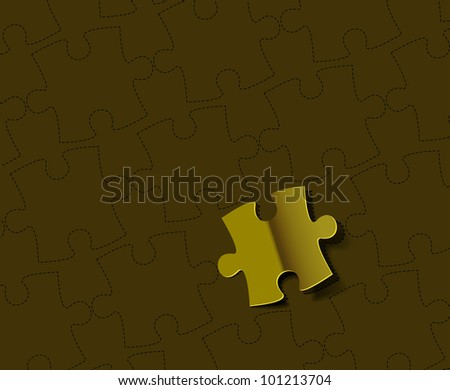 Vector puzzle with pie vector background - stock vector