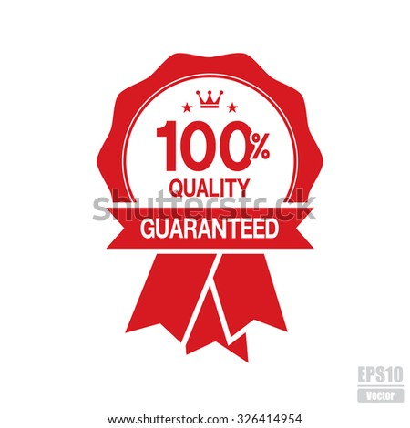 Vector : 100% Quality Guaranteed labels.Eps10. - stock vector