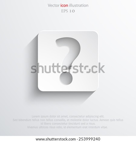 Vector question web flat icon. Eps 10 illustration. - stock vector