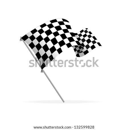 Vector Racing flag - stock vector