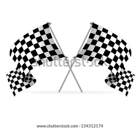 Vector Racing flags - stock vector