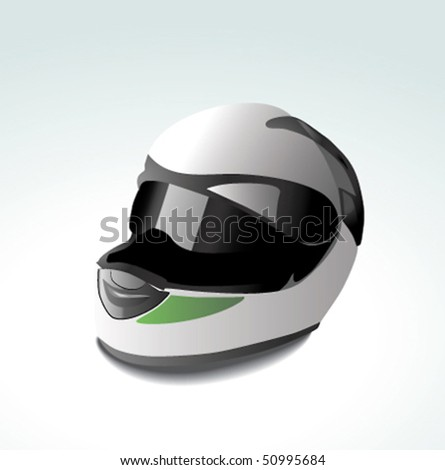 vector racing helmet. - stock vector