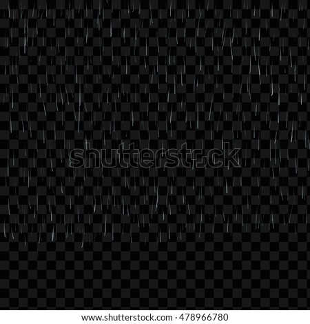 vector rain isolated on transparent background