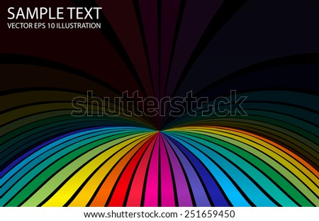 Vector rainbow abstract color background design template - Vector colorful striped background illustration template - stock vector