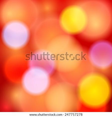 Vector rainbow bokeh background. - stock vector