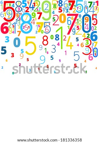 Vector rainbow colored background  from numbers with copyspace