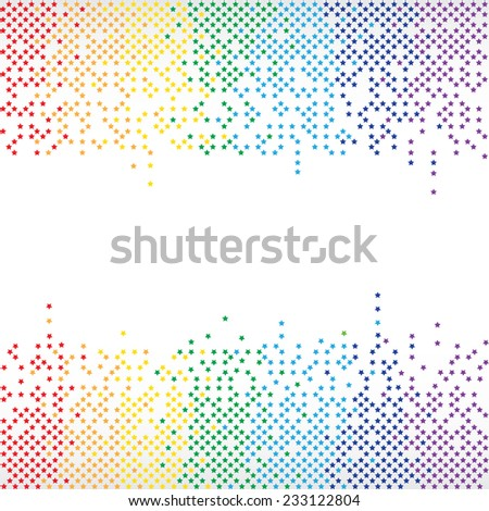 Vector rainbow equalizer background (frame) - stock vector