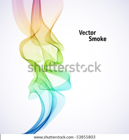 Vector Rainbow Smoke - stock vector