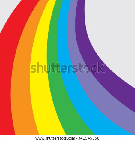 Vector rainbow stripes close-up  - stock vector