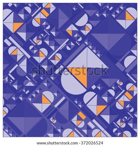 vector random shape vintage colors pattern - stock vector