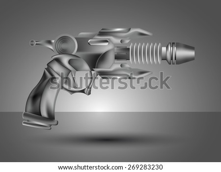 Vector Ray Gun - stock vector
