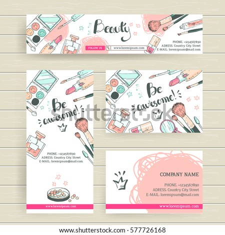Vector ready design template makeup artist stock vector royalty vector ready design template for makeup artist makeup studio or cosmetics shop site header colourmoves